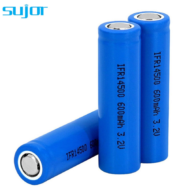 LiFePO4 battery 3.2V 14500 AA 600mAh lithium iron phosphate battery
