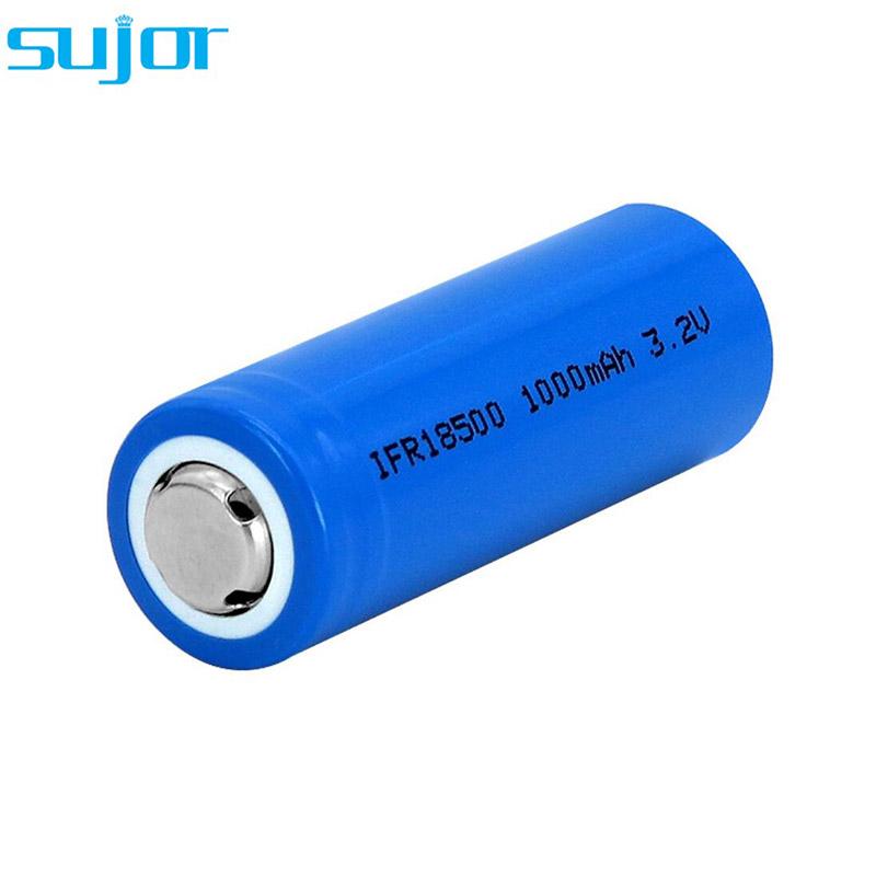 LiFePO4 battery 3.2V 18500 1000mAh lithium iron phosphate battery
