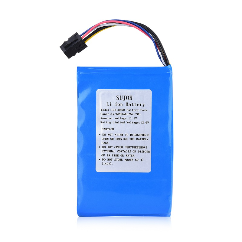 Lithium ion battery pack 11.1V 18650 5200mAh