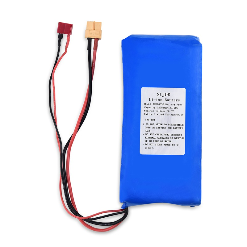 Lithium ion battery pack 60V 18650 2200mAh 16S1P
