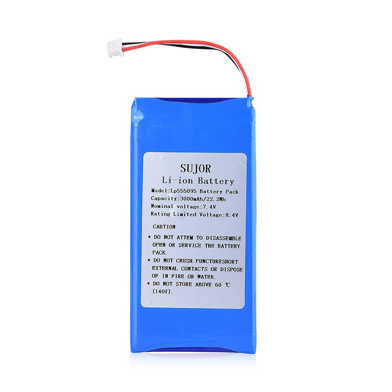 Low temperature Lithium polymer battery 7.4V 555095 3000mAh