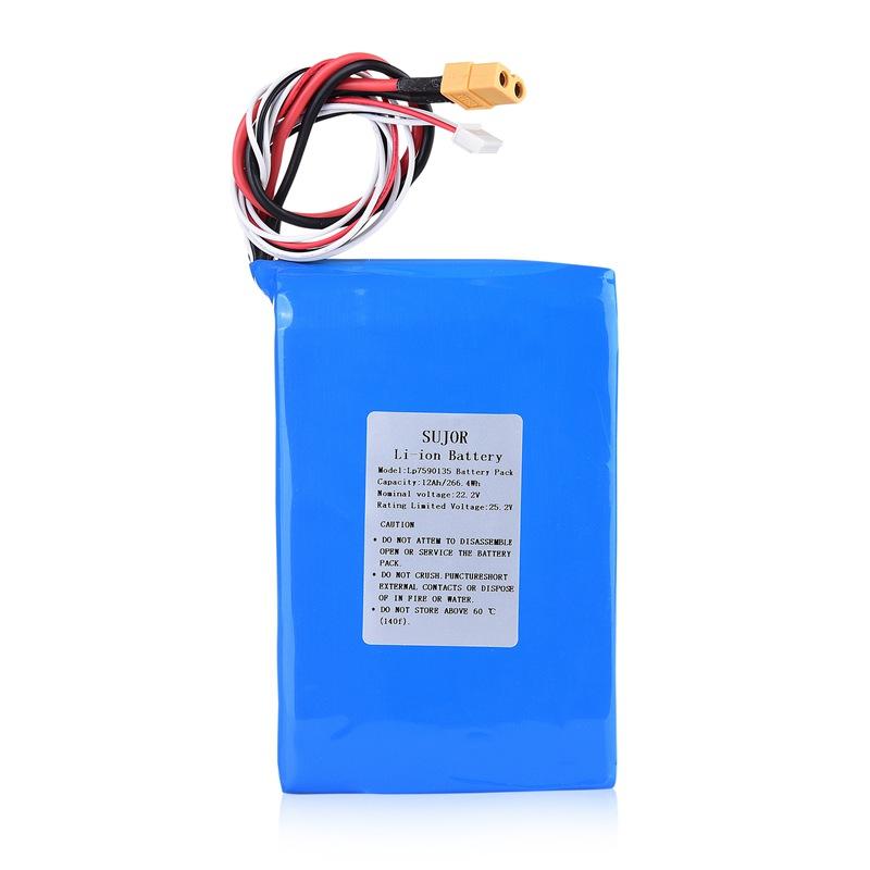 High temperature Lithium polymer battery 22.2V 7590135 12Ah