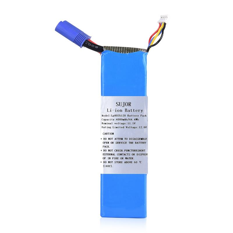 High drain Lithium polymer battery jump starter battery