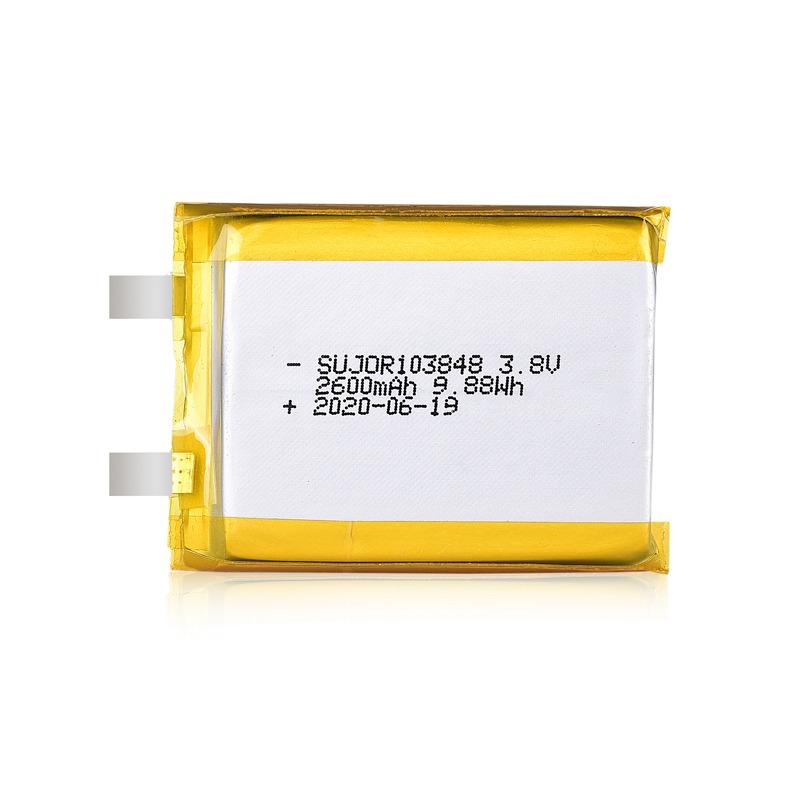 Lithium polymer battery 3.8V 103848 2600mAh