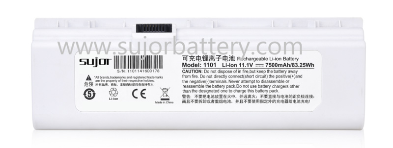 SUJOR ICR18650 7500mAh 11.1V Lithium ion battery pack for portable B supersonic diagnostic set