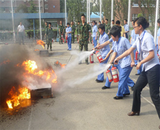 Training for fire control and safety production