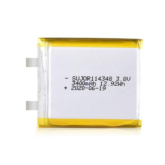 Li polymer battery 114348 3400mAh 3.8V