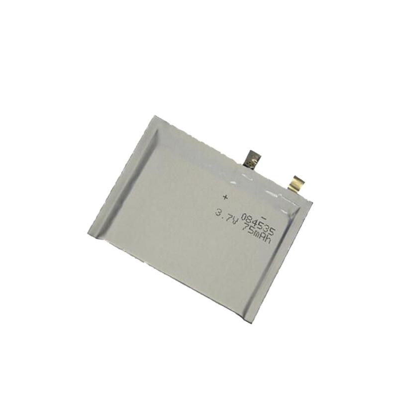 Ultra-thin Lithium polymer battery 3.7V 084535 75mAh