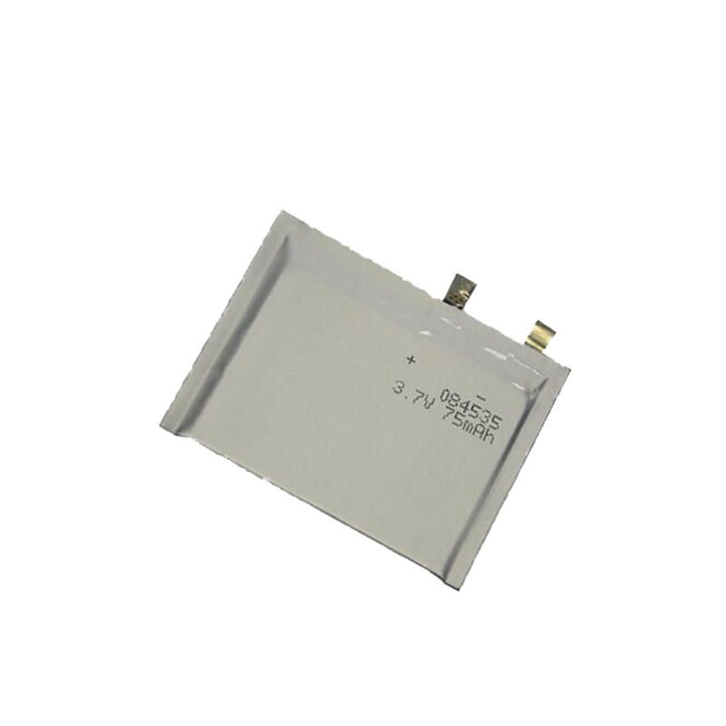 Ultra-thin Lithium polymer battery 3.7V 084535 75mAh
