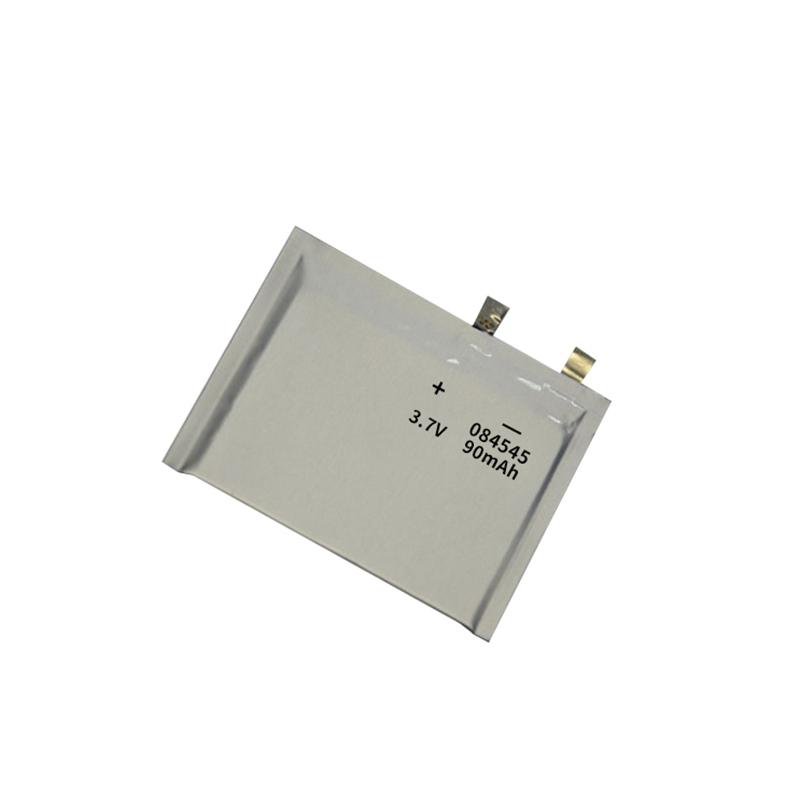 Ultra-thin Lithium polymer battery 3.7V 084545 90mAh