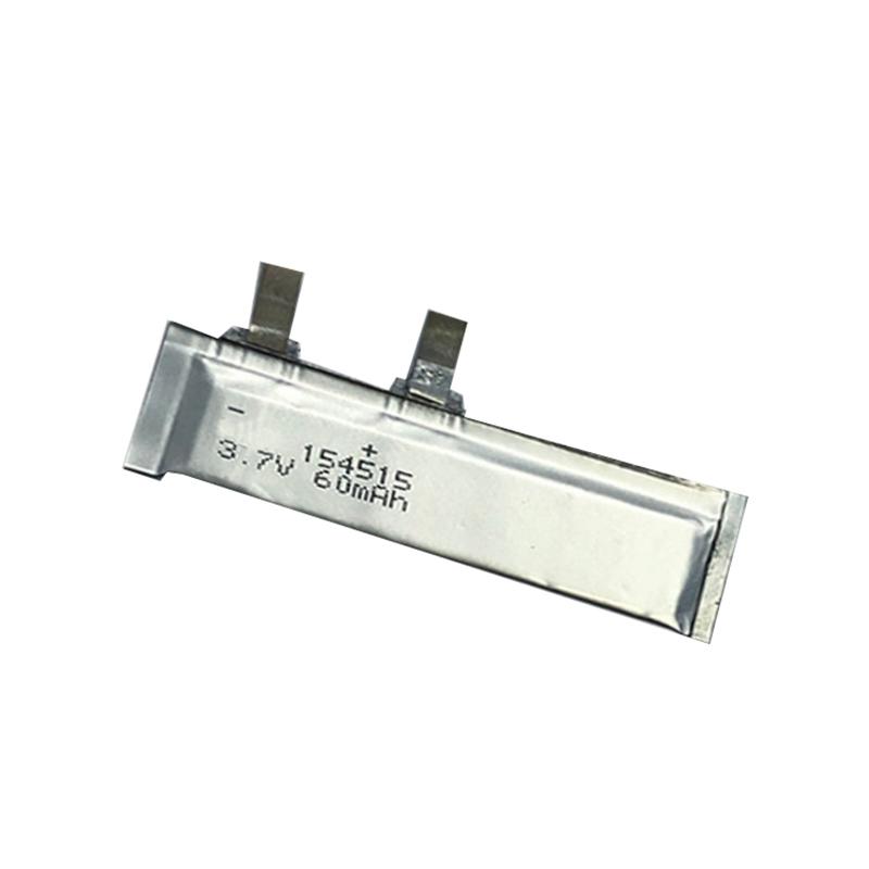 Ultra-thin Lithium polymer battery 3.7V 154515 60mAh