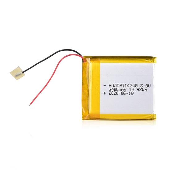 Lithium polymer battery 3.8V 114348 3400mAh