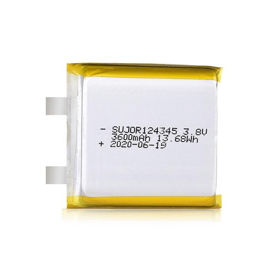 Li polymer battery 3.8V 124345 3600mAh