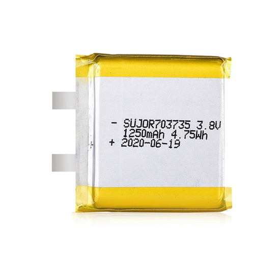 Lithium polymer battery 3.8V 703735 1250mAh