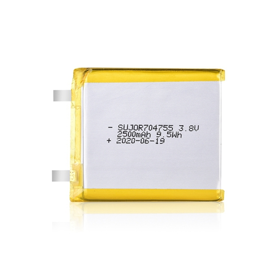 Li polymer battery 3.8V 704755 2500mAh