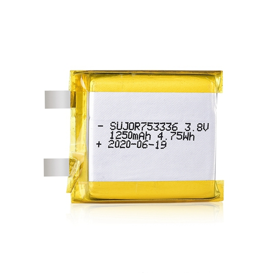 Li-polymer battery 3.8V 753336 1250mAh