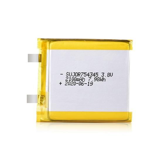 Li polymer battery 3.8V 754345 2100mAh