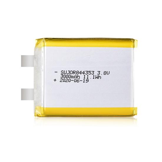 Li-polymer battery 3.8V 844353 3000mAh
