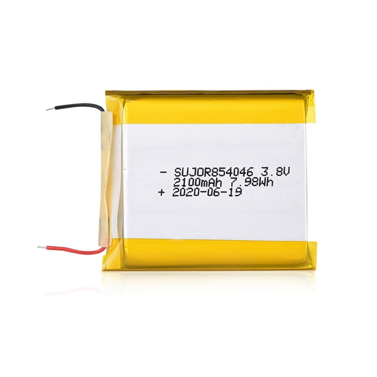 Lithium polymer battery pack 3.8V 854046 2100mAh