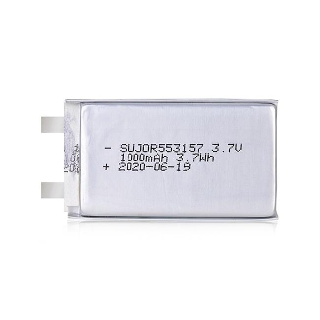 Li polymer battery 3.7V 553157 1000mAh
