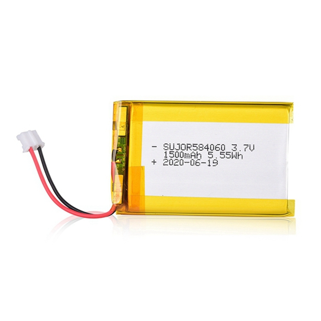 Li-polymer battery pack 3.7V 584060 1500mAh