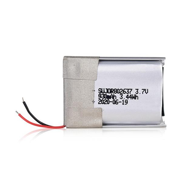 Lithium polymer battery pack 3.7V 802637 930mAh