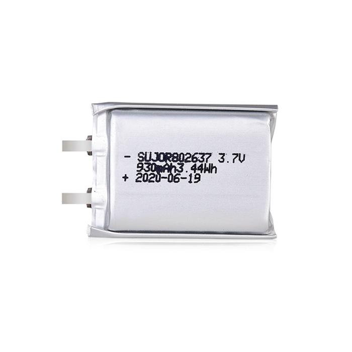Lithium polymer battery 3.7V 802637 930mAh