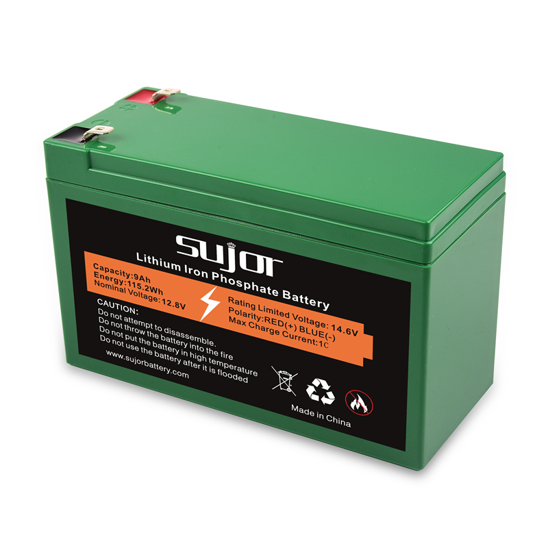LiFePO4 battery pack 12V 9Ah rechargeable started up battery