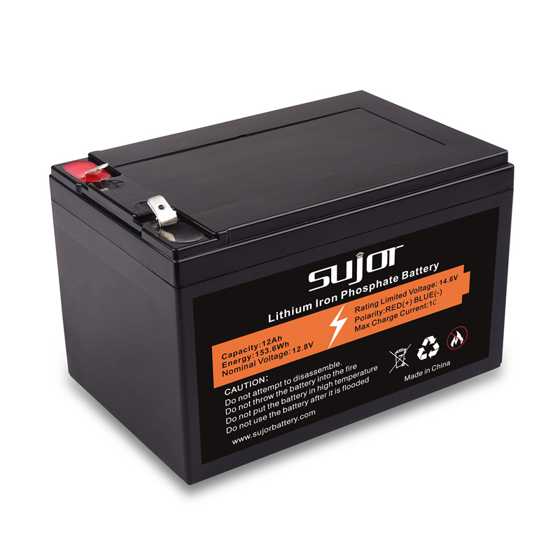LiFePO4 battery pack 12V 12Ah for backup power