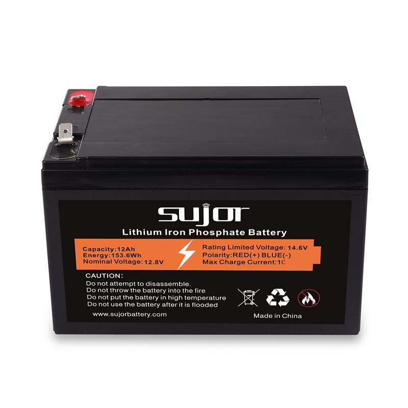 LiFePO4 battery pack 12V 12Ah for backup power
