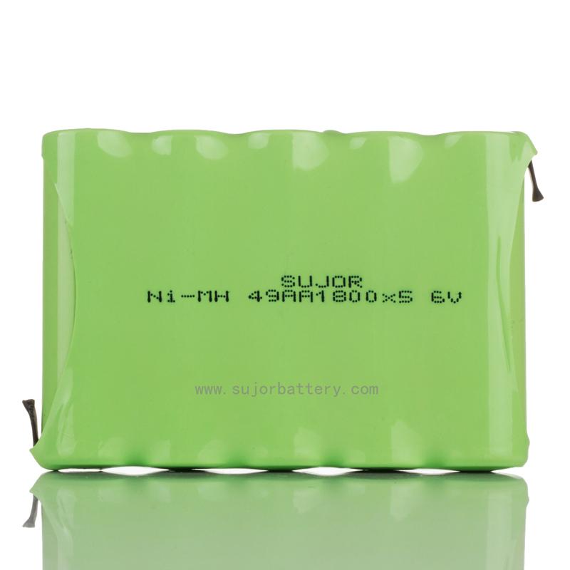 NiMH battery pack 6V AA1800mAh for emergency lighting