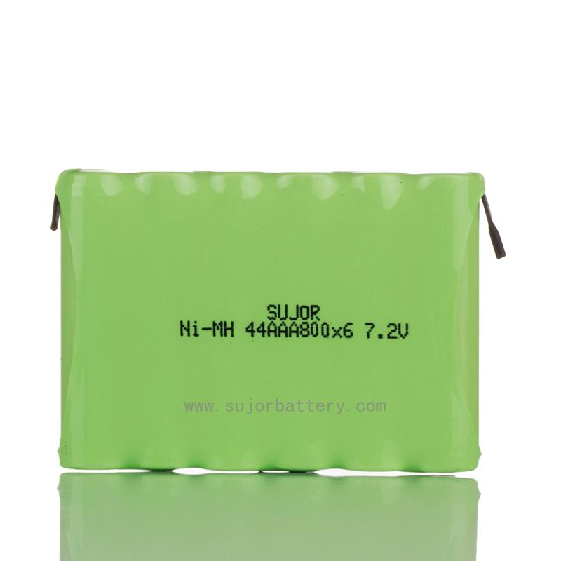 NiMH 7.2V AAA800mAh battery pack for electronics
