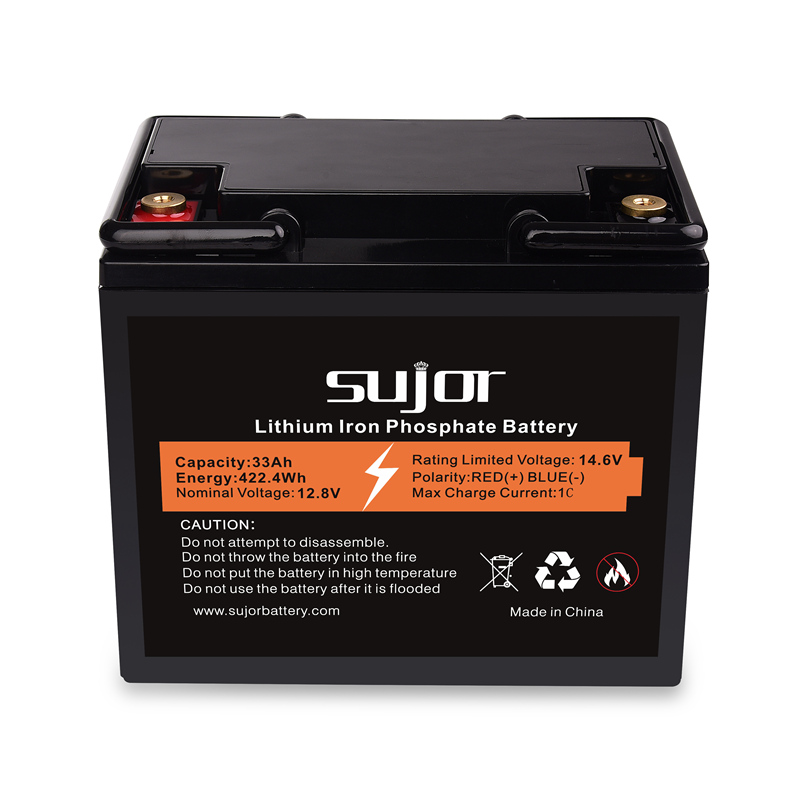 LiFePO4 12V 33Ah battery pack with long life