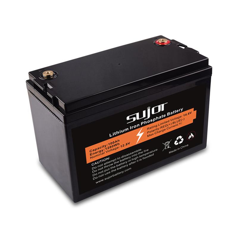 LiFePO4 battery pack 12V 100Ah for golf cart
