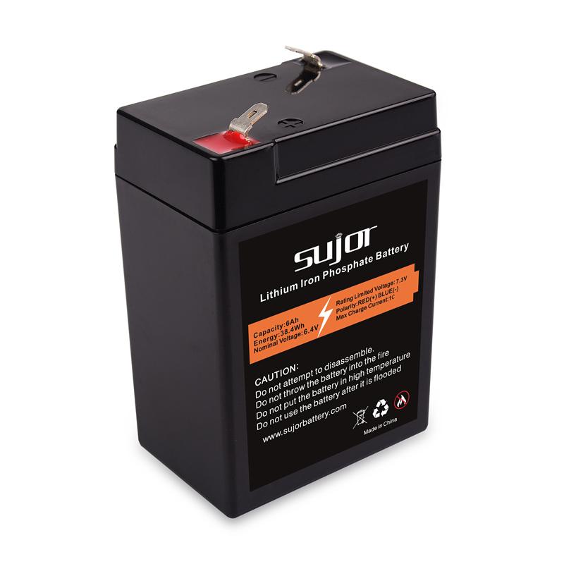 LiFePO4 battery pack 6V 6Ah