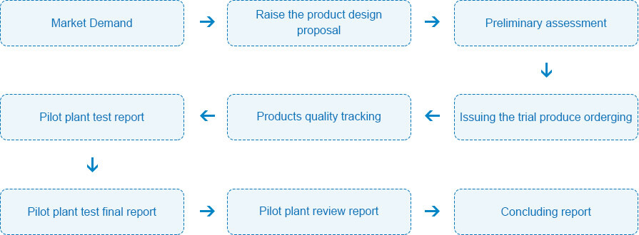Research&development process flow sheet